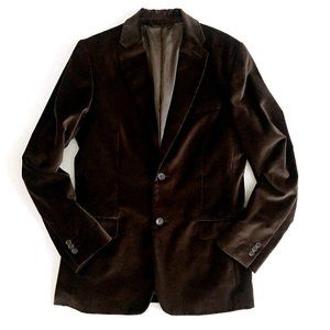 Banana Republic Mens Brown Velvet Jacket Blazer 38
